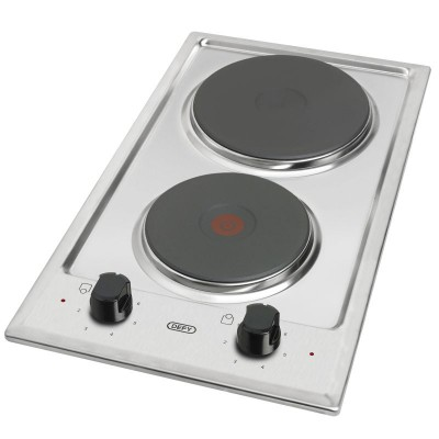 Defy DHD401 300mm Stainless Steel Domino 2 Plate Solid Hob