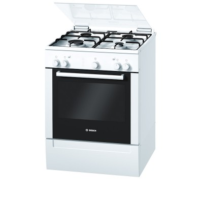 Bosch 600mm White Free Standing Gas Oven