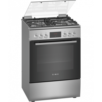 Bosch HXQ38AE50M 600mm 4 Burner Stainless Steel Gas/Electric Freestanding Oven