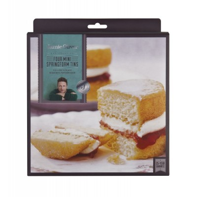 Jamie Oliver Set of 4 Mini Springform Cake Tins