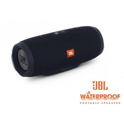 JBL Charge 3 Portable Bluetooth Speaker- Black