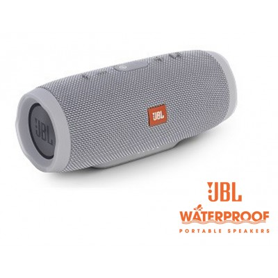 JBL Charge 3 Portable Bluetooth Speaker- Grey