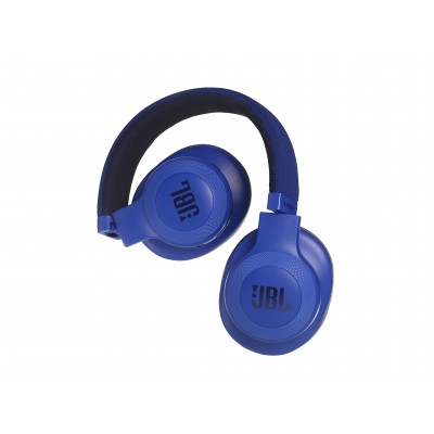 JBL E55 Bluetooth Wireless Over-Ear Headphones- Blue