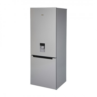 KIC KBF635MEWATER 314L Metallic Combi Fridge Freezer with Water Dispenser