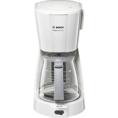 "Bosch White ""Compact Glass"" Coffee Machine"