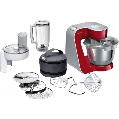 Bosch 1000W Deep Red/Silver Kitchen Machine