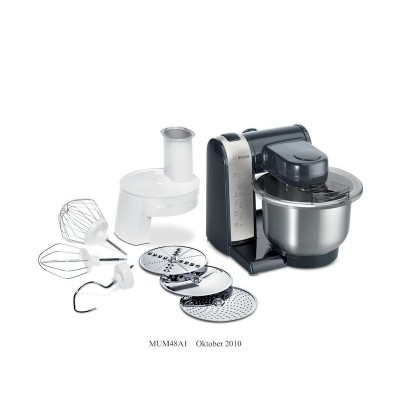 Bosch MUM48A1 600W Black/Silver Kitchen Machine
