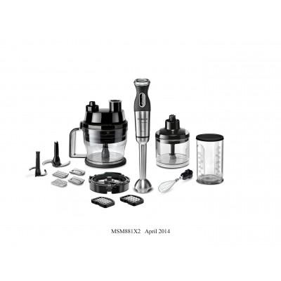 Bosch MSM881X2 800W Blender Rod