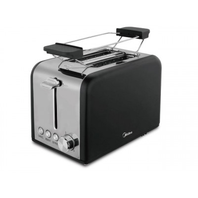 Midea 2 Slice Toaster/Warming Rack - Black