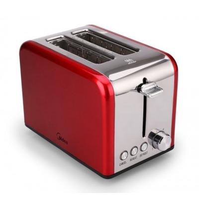 Midea 2 Slice Toaster/Warming Rack - Red