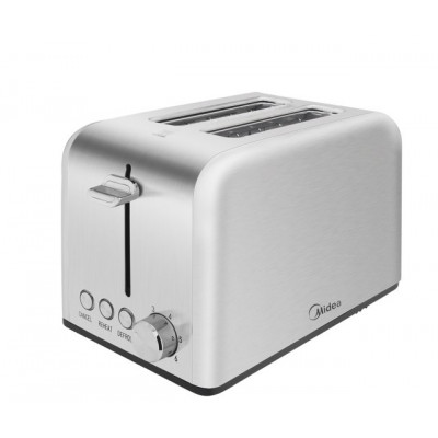 Midea 2 Slice Toaster/Warming Rack - Stainless Steel