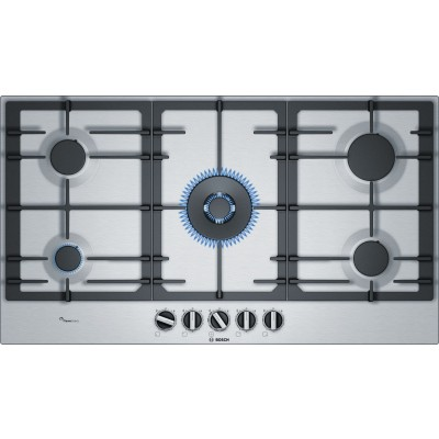 Bosch SERIE 6 PCR9A5B90Z 90cm gas hob with wok burner