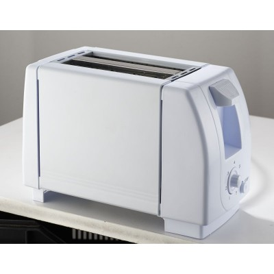 Pineware 855042 White 2-Slice Toaster