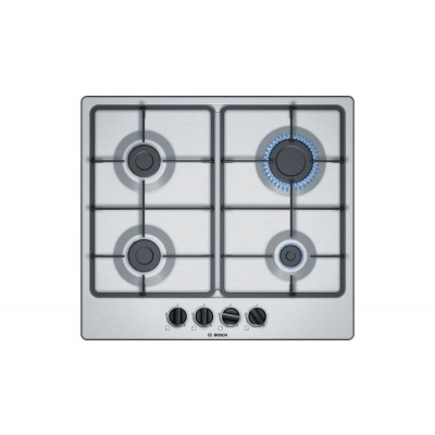 Bosch  Serie 6 PGP6B5B60Z 60cm Gas Hob Stainless Steel