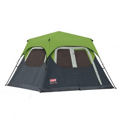 Coleman Instant Tent 4 Man (8FT X 7FT) Incl Green Flysheet