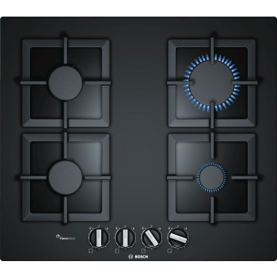 Bosch Serie 6 PPP6A6B20 60cm Tempered Glass Gas Hob