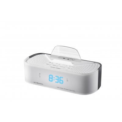 SDigital Q6 White Radio Clock