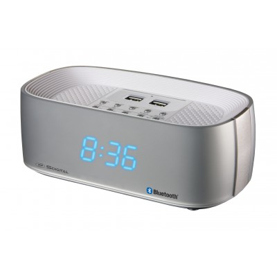 SDigital Q7 Silver Clock Radio