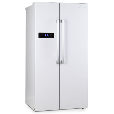 Midea 527L Net A+ Side By Side Fridge & Freezer - White