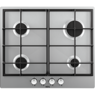 AEG 600mm Stainless Steel Gas Burner Hob