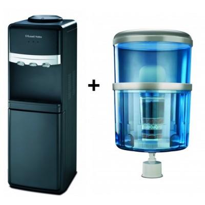 Russell Hobbs Free Standing Water Dispenser & Water Bottle Bundle