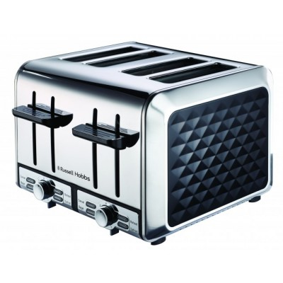 Russel Hobbs Diamond Black 4 Slice Toaster