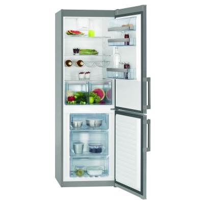 AEG 318L Digital Control Stainless Steel Combi Fridge