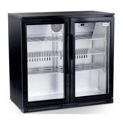 SnoMaster SD220 Black Two Door Alfresco Beverage Cooler