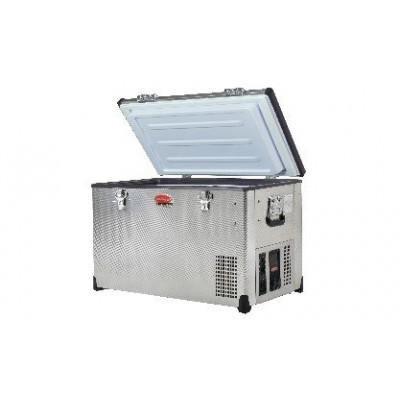 SnoMaster SMDZEX72D 72Lt Stainless Steel Dual Fridge Freezer