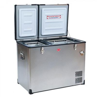 SnoMaster SMDZEX85D 37/48L Stainless Steel Dual Fridge / Freezer
