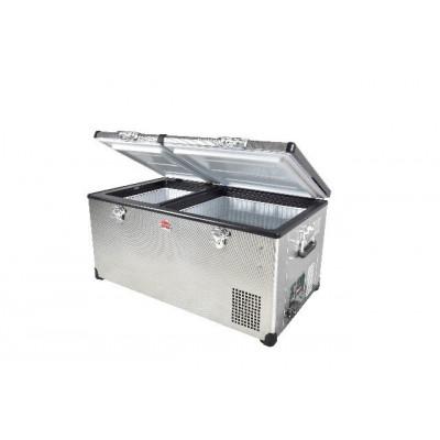 SnoMaster SMDZLP96D 93L Stainless Steel Dual Fridge Freezer Double Door