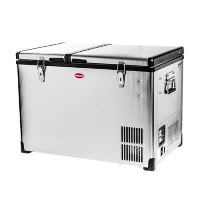 SnoMaster SMDZCL56D 56L Stainless Steel Dual Fridge/Freezer Double Door