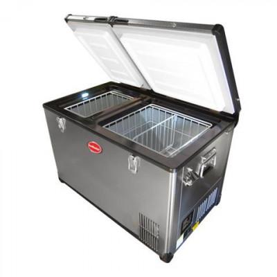 SnoMaster SMDZEX67D 67L Stainless Steel Dual Fridge/Freezer
