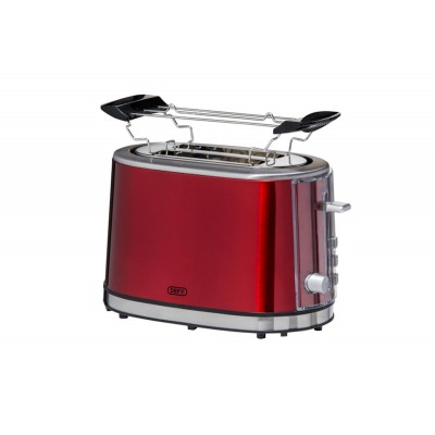 Defy Red/Stainless Steel 2 Slice Toaster