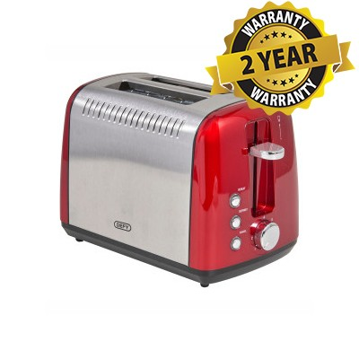 Defy TA828R Metallic Red 2 Slice Toaster