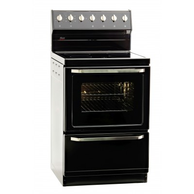 Univa Stove 4 Ceran Plates Black 600mm SS Knobs