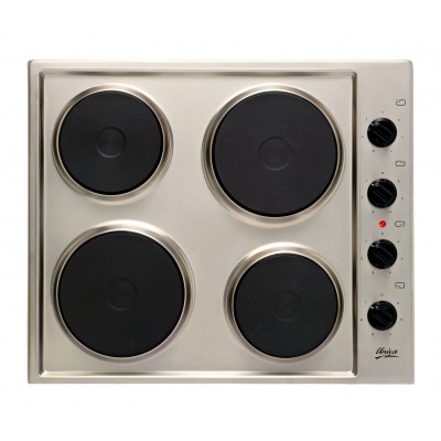 Univa U156SS 600mm Stainless Steel 4 Plate Solid Hob