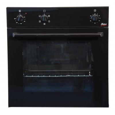 Univa U246B 600mm 86L Black Eye Level Oven