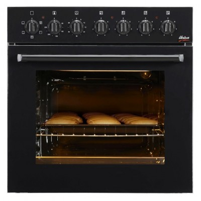Univa U336B 600mm Black Electric Under Counter Solid Hob & Oven Combo