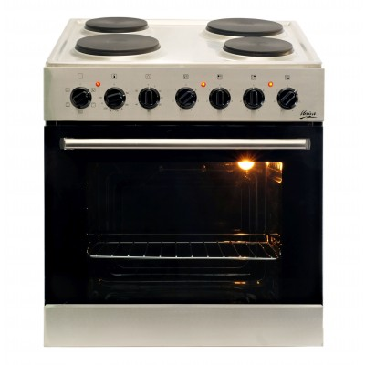 Univa U336SS 600mm Stainless Steel Electric Under Counter Solid Hob & Oven Combo
