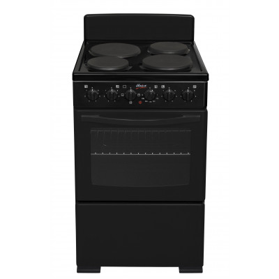 Univa U405-1 500mm 4 Solid Plate Black Electric Freestanding Stove