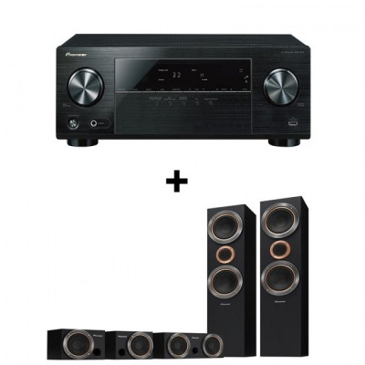 Pioneer 5.1-Channel AV Receiver & Pioneer 5Ch Home Cinema Speakers Bundle