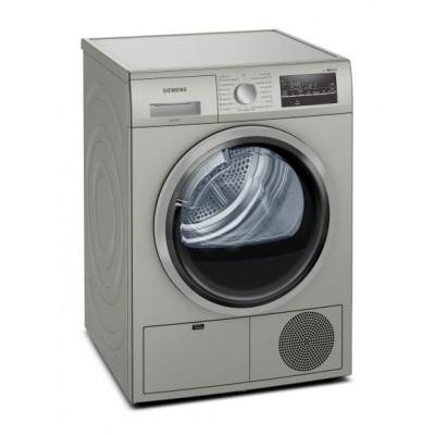 Siemens WT46G40SZA 8KG Silver Inox Condenser Tumble Dryer